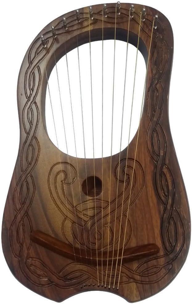 HW Lyre Arp - Estuche de madera de Sheesham con 10 cuerdas de metal: Amazon.es: Instrumentos musicales