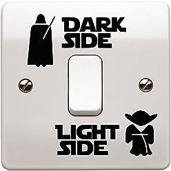 Epic Modz Star Wars Light Side Dark Side Light Switch Vinyl Decal Sticker, Black