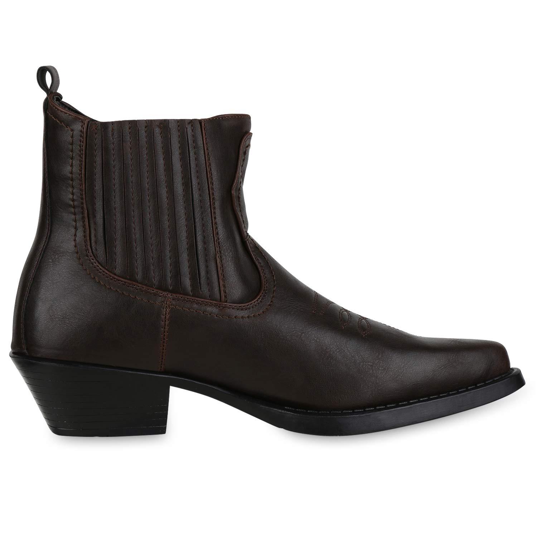 SCARPE VITA Herren Cowboy Boots Warm Gef/üttert