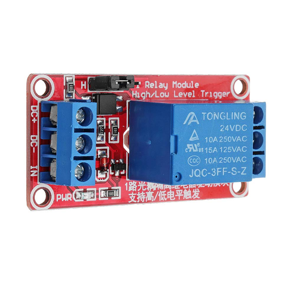 ROUHO 5Pcs 24V 1 Channel Level Trigger Optocoupler Relay Module F/ür Arduino