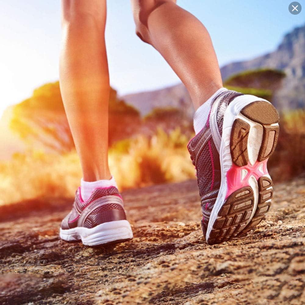 8-15 mmhg Athletic Plantar Fasciitis No-Show Running Socks Copper Compression Socks for Men /& Women 6Pack