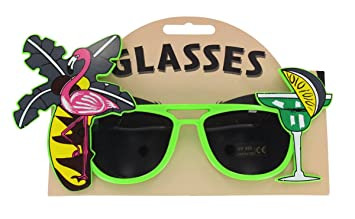 c0bf9b2658eb Tropical Party Novelty Sunglasses - Single - Assorted Colours ...