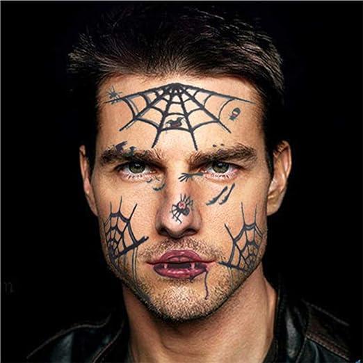 FANGQI calcomanía de Tatuaje para Halloween, Postes para la Cara ...