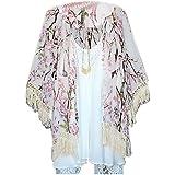 706f2ec7e Fanala Sexy Women Boho Crochet Sheer Lace Floral Kimono Cardigan Coat  Blouse Tops