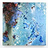 Blue Rust, Abstract Photography on 20X20 Wood Pane