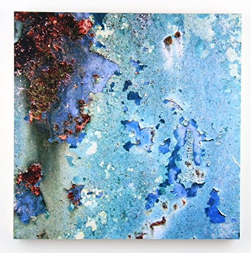 Blue Rust, Abstract Photography on 20X20 Wood Pane by