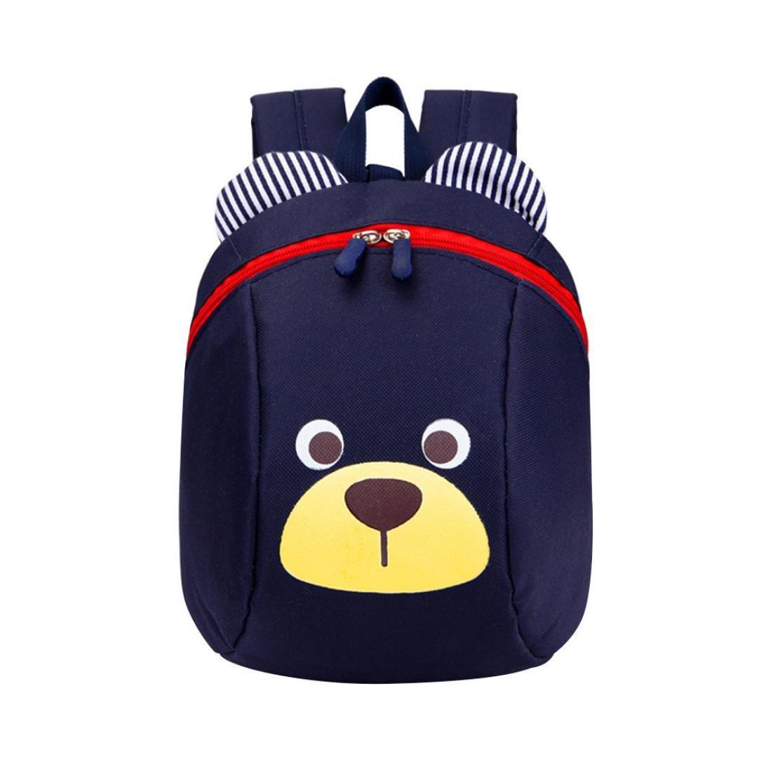 LQQSTORE zaino per studenti, Anti-perso bambini borsa per bambini carina animale cane bambini zaini zaino scuola borsa di età compresa tra 1-3