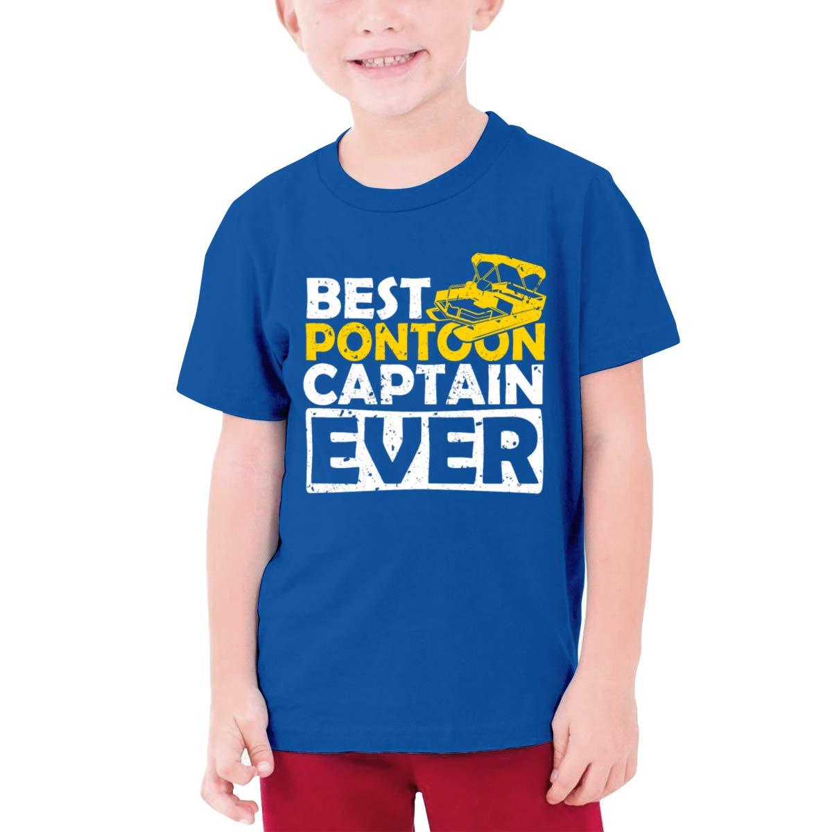 Negi Best Pontoon Captain Ever Boys Short Sleeve Shirts