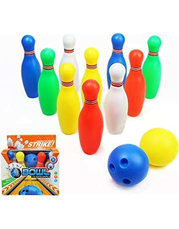 94e720e8e685 Skittles Bowling Set Kids Outdoor Indoor 10 pin Bowling Game with 2 Balls  for Kids Over