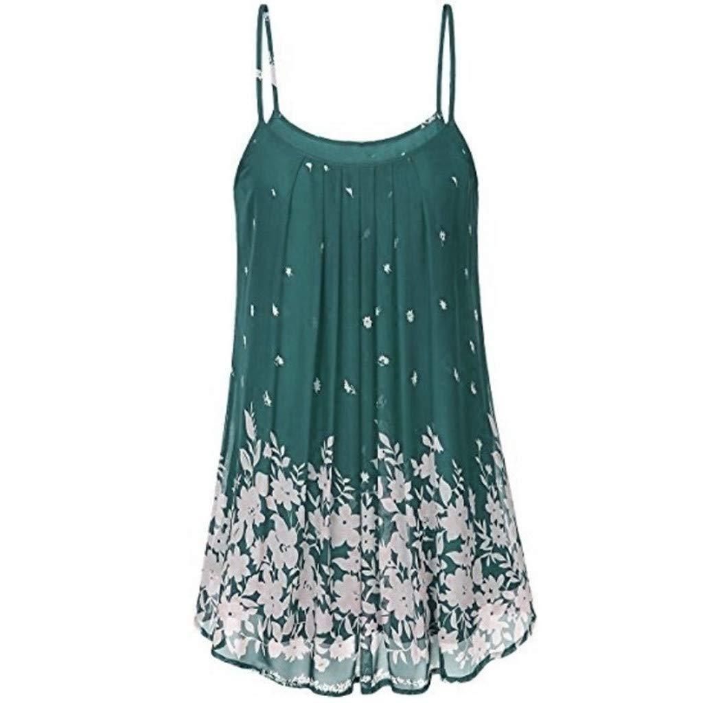 A-Artist Damen Kleid Minikleid Sommerkleid Schlinge Kurze Ärmellose Kleider Kleid Sling Süß Dress Faltenrock Lose Kleiden für Party Picknick Abend Cocktailkleid Printkleid