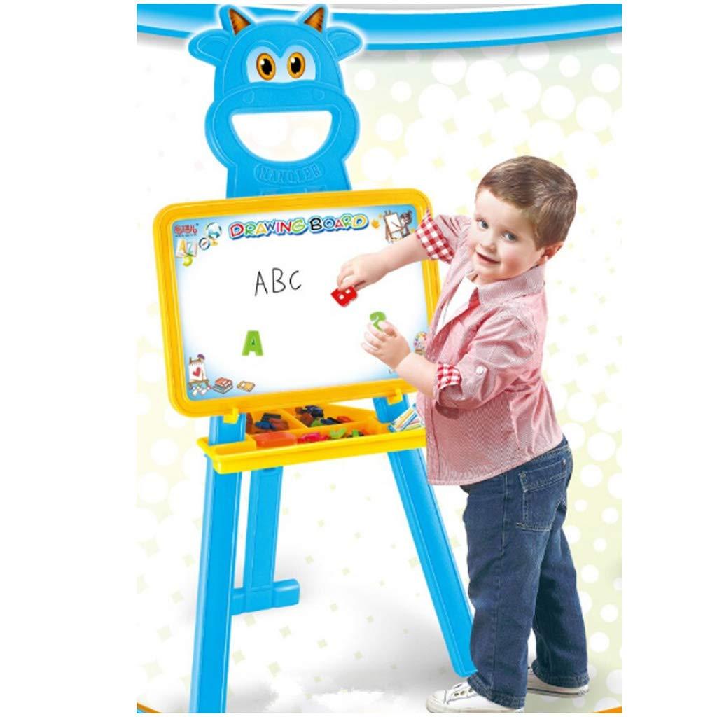 DUYANGANG Children's Studio Easel Plastic Easel Painting Sketch Display Easel Home Kindergarten Educational Toys 52 * 120cm (color : Blue)
