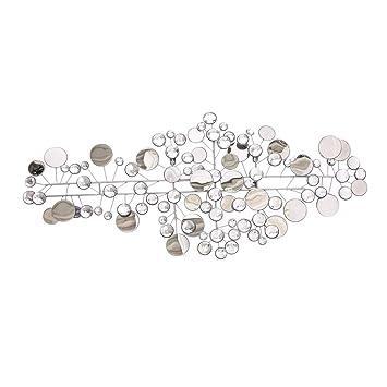 Pureday Wandobjekt Sparkle Wanddeko Spiegel Metall Silber