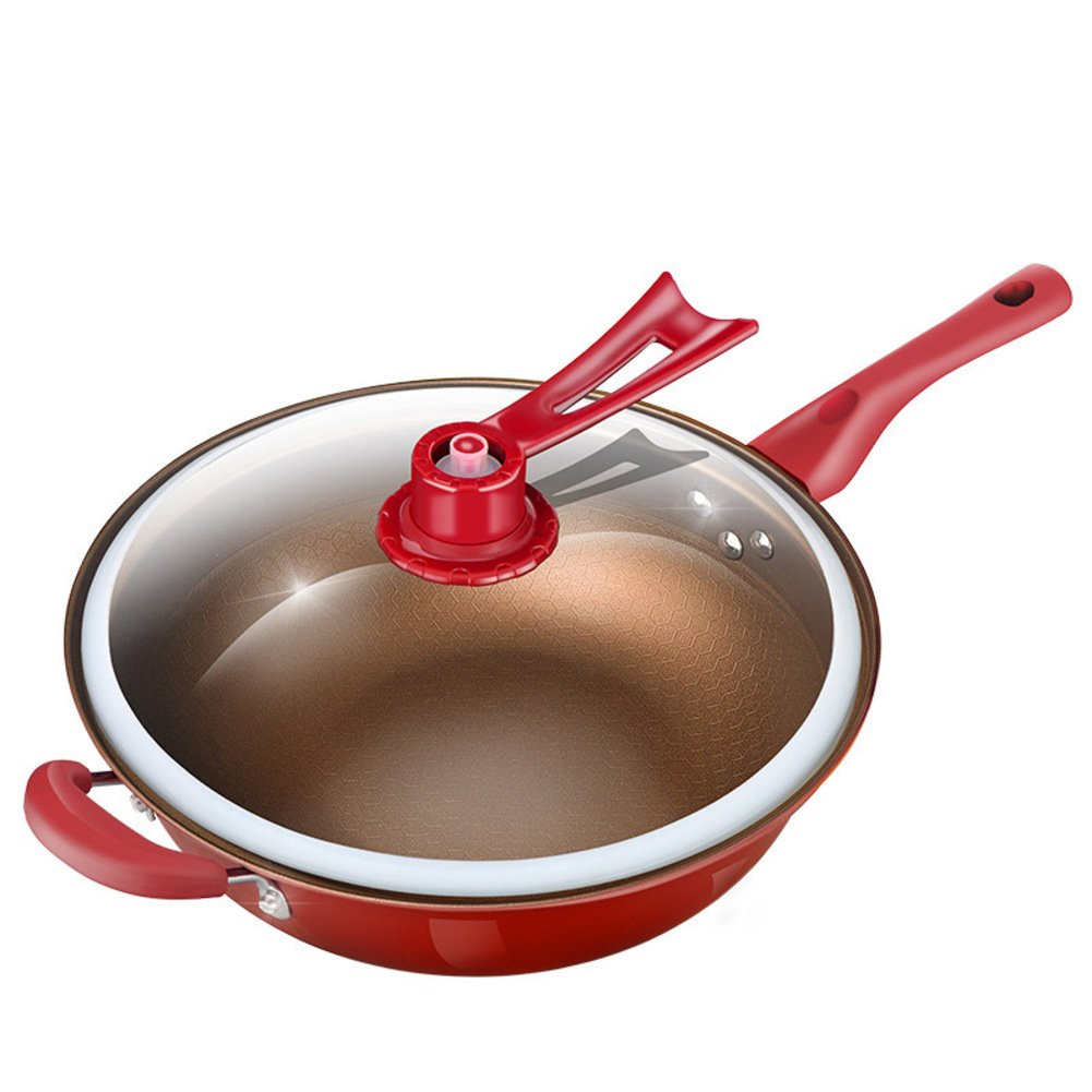 Amazon.com: Fry pans, Frying pans nonstick grill Deep saute pan with lid Steamer pan Casserole stockpot No fumes 12.6 Inch 32cm-A: Kitchen & Dining