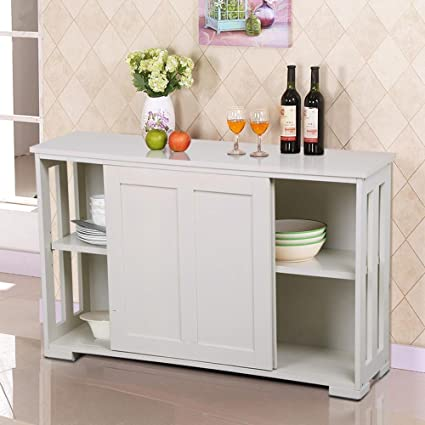 Amazon.com - go2buy Antique White Stackable Sideboard Buffet Storage ...