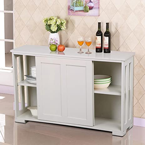 Amazon.com - go2buy Antique White Stackable Sideboard Buffet ...