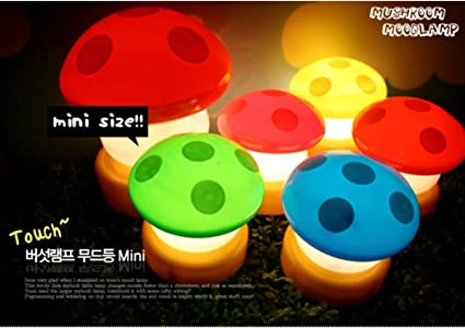 Amazon.com 5x led mini mushroom night light lamp small set of 5