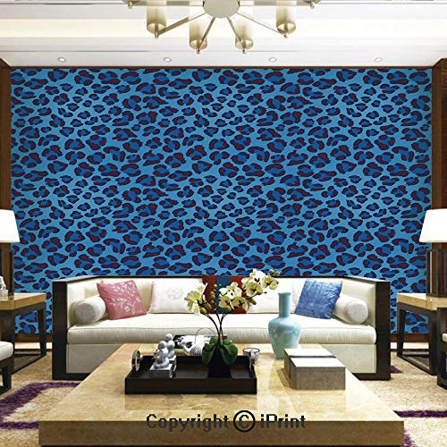 Wallpaper Nature Poster Art Photo Decor Wall Mural for Living Room,Leopard Animal Print Stylized Artistic Design Creative Contemporary Artwork,Home Decor - 66x96 inches ()