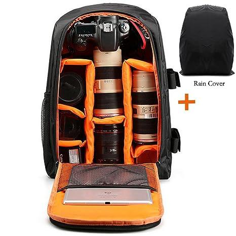 Resistente al agua cámara mochila, DSLR cámara y lente mochila bolsa de viaje estándar bolsa