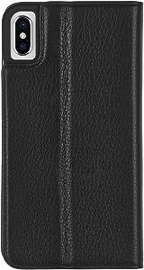 Case-Mate - Iphone XS Max Folio Case - Leather Wallet Folio - Iphone 6.5 - Black Leather