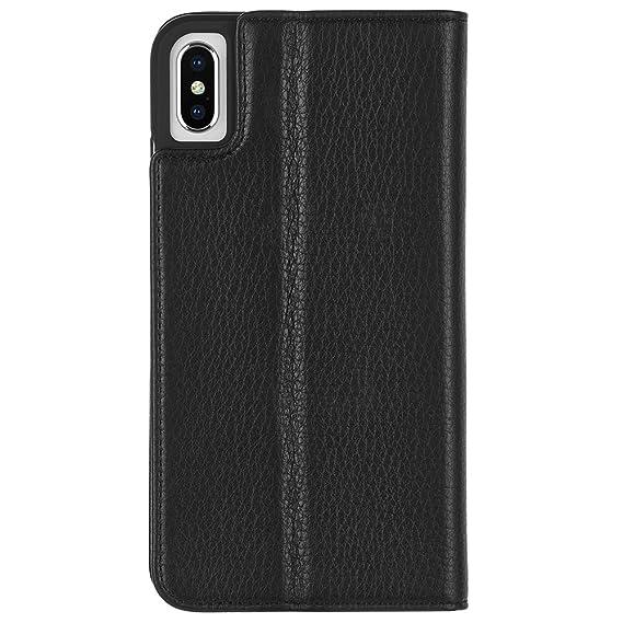 132306fb8371 Amazon.com  Case-Mate - iPhone XS Max Folio Case - LEATHER WALLET ...