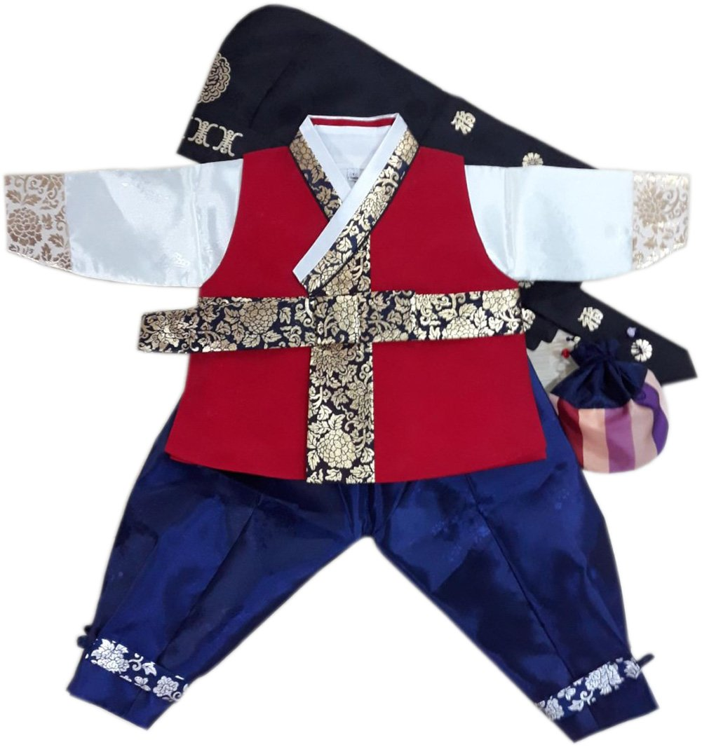 Korean Hanbok Boys Babys 1ST Birthday Traditional Costumes Party Gift hb250/f