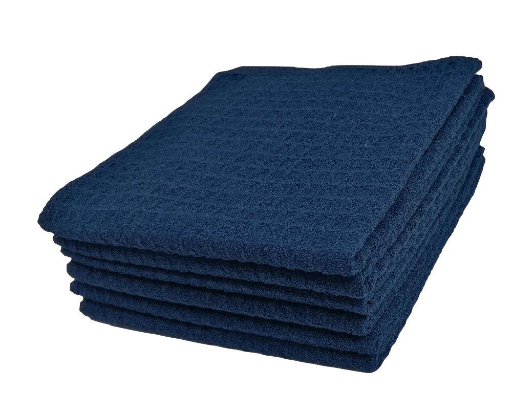 EastElegant Microfiber Waffle Dishcloths Kitchen Towels 12x12 inch Blue
