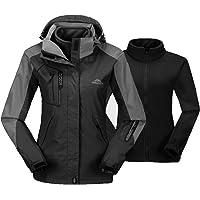 TBMPOY Women's 3-in-1 Winter Jacket Outdoor Waterproof Softshell Rain Jacket