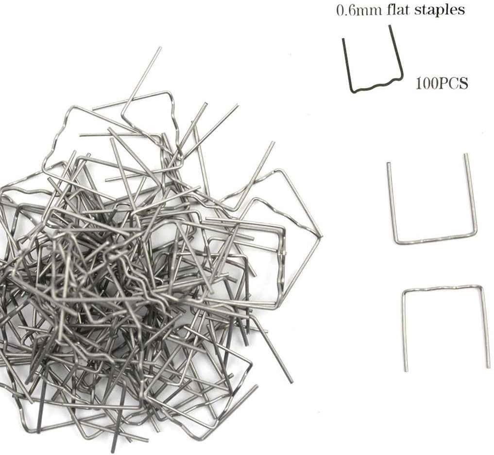 ETbotu taping /à lint/érieur dangle Agrafes 0.8/mm//0.6/mm Plastique agrafeuse r/éparation Soudeurs 100/pcs