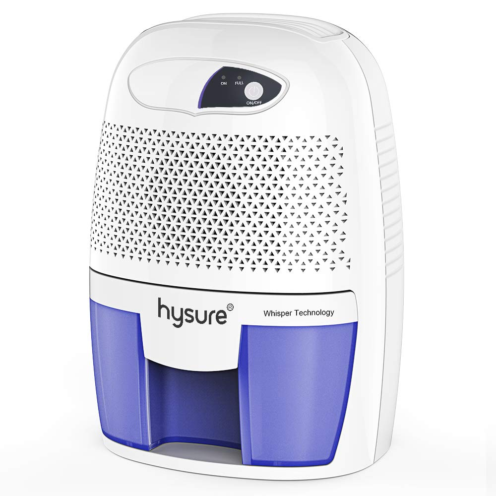 Hysure Portable Mini Dehumidifier 2201 Cubic Feet Electric Safe Dehumidifier for Bedroom Home Crawl Space Bathroo RV Baby Room White by Hysure