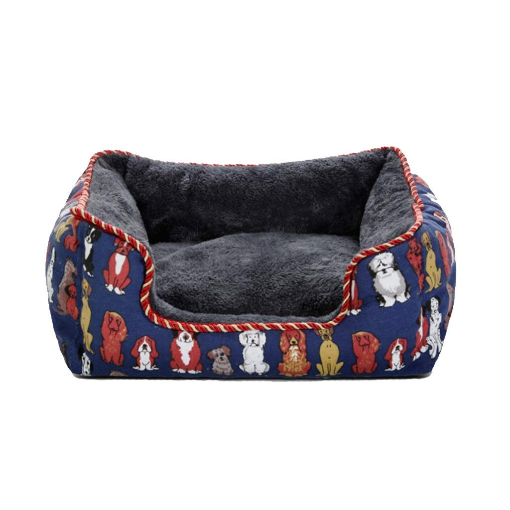 bluee S bluee S Mid West Deluxe Pet Bed for Dogs and Cats-Multiple Sizes and colors Available,Anti-Microbial Removable Waterproof Washable Non-Slip Cover (color   bluee, Size   S)