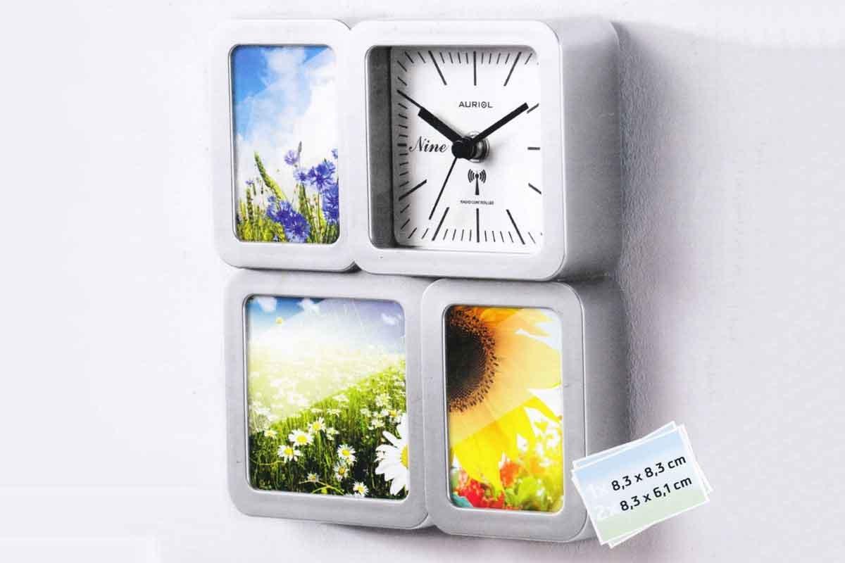 Auriol fotográfico de reloj Foto Reloj Reloj de pared Reloj de mesa - Radio reloj con tecnología nuevo: Amazon.es: Hogar