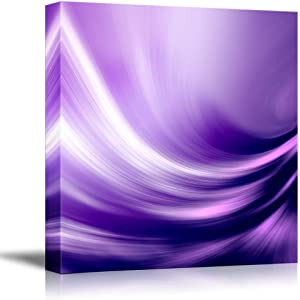 """wall26 - Canvas Prints Wall Art - Electric Waving Purples   Modern Wall Decor/Home Decoration Stretched Gallery Canvas Wrap Giclee Print. Ready to Hang - 24"""" x 24"""""""