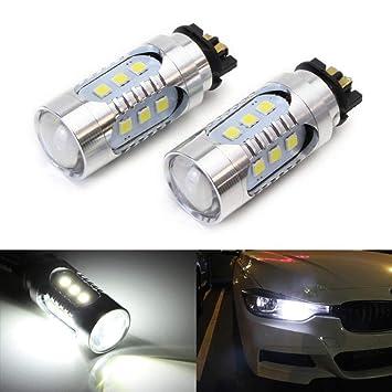 ijdmtoy (2) xenón blanco PW24 W PWY24 W LED bombillas para audi bmw Volkswagen