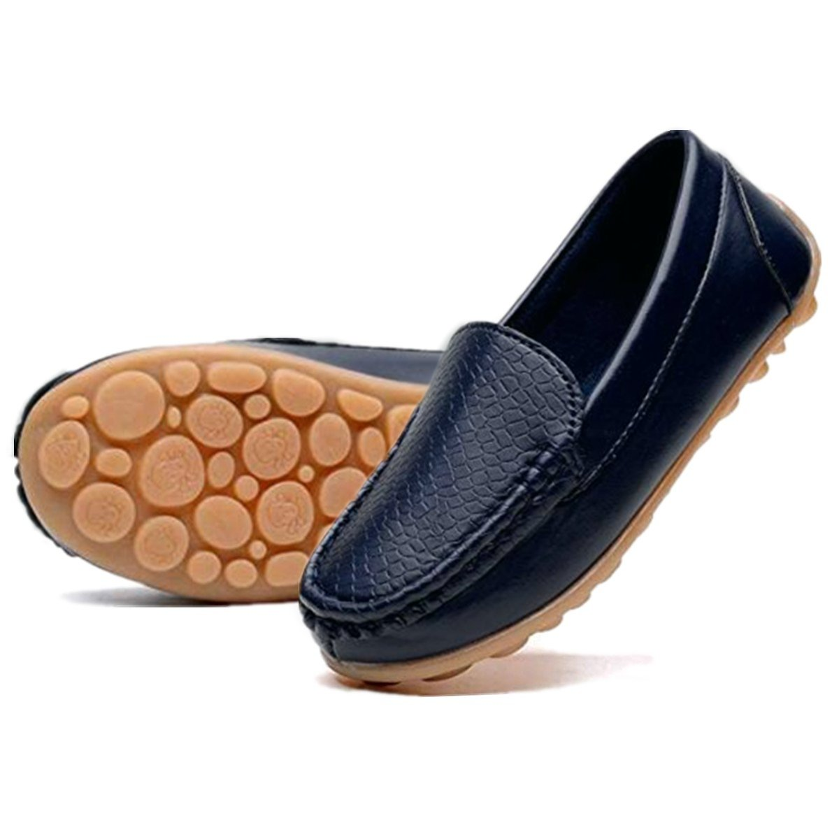 RVROVIC Kids Girls Boys Slip-on Loafers Oxford PU Leather Flats Shoes Toddler//Little Kid
