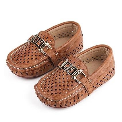 Amazon.com: HUAN niños de microfibra Mocasines Zapatos Niños ...
