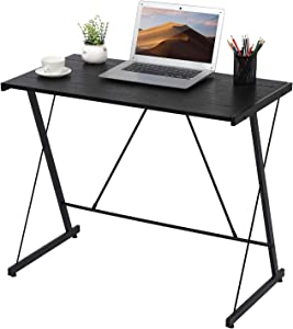 GreenForest Small Computer Desk Simple PC Laptop Study Table Writing Workstation for Home Office, Easy Assembly, Black