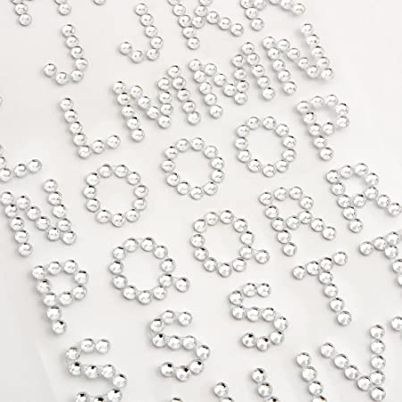 SELF ADHESIVE DIAMANTE STICK ON SPARKLY JEWELS GEMS PEARLS LETTERS AND NUMBERS
