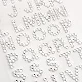 15mm Clear Diamante Self Adhesive Alphabet Letters Craft Embellisment