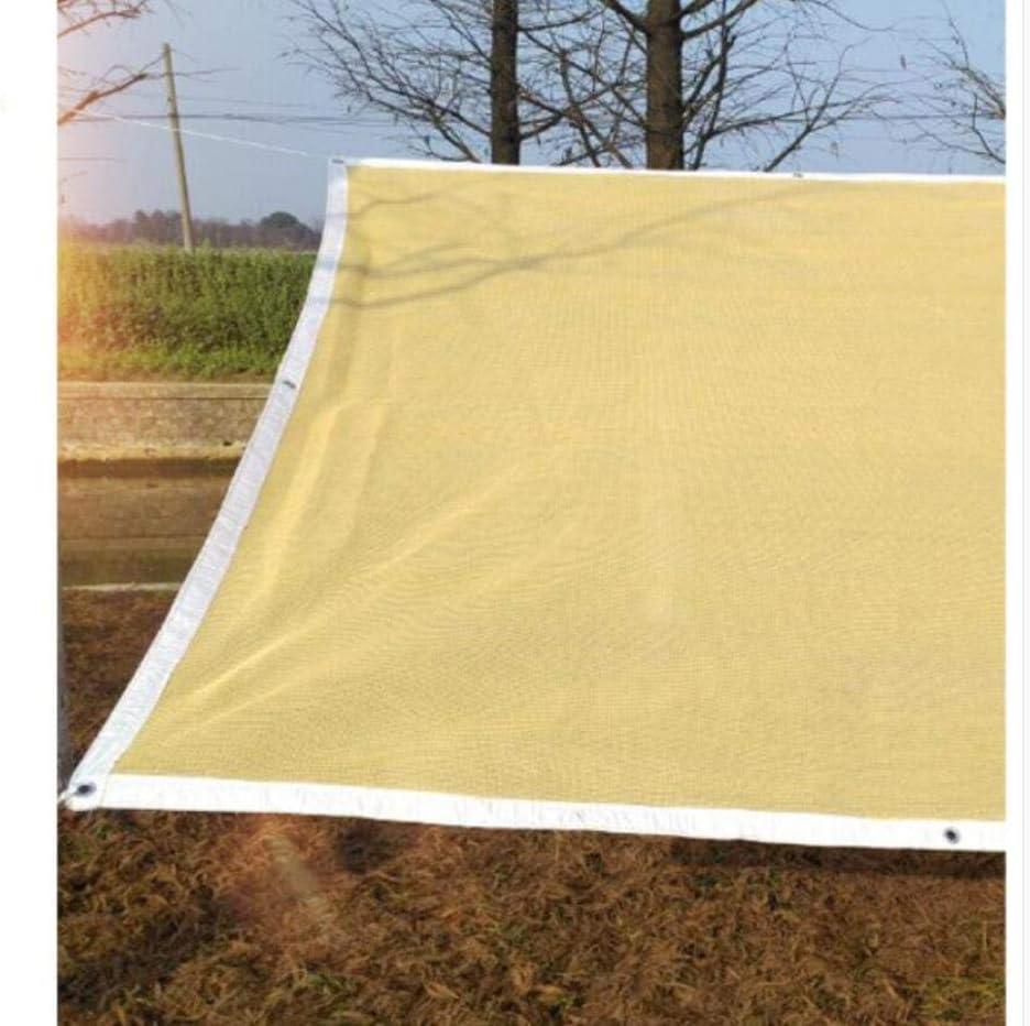 Beige Panno Sunblock Ombra Giardino Rete ombreggiata per granaio di Copertura vegetale o canile,12x18ft//4x6m ALYR 90/% Sun Panno Parasole