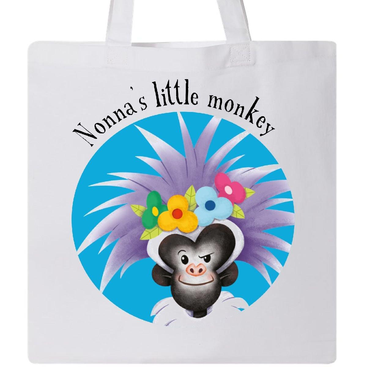 Amazon.com: Inktastic - Nonna\'s Little Monkey Cute Blue Tote Bag ...