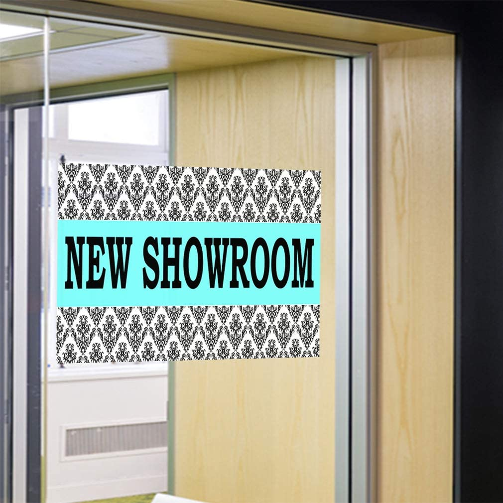 Decal Sticker Showroom red white Trade Shows Place to show something Store Sign