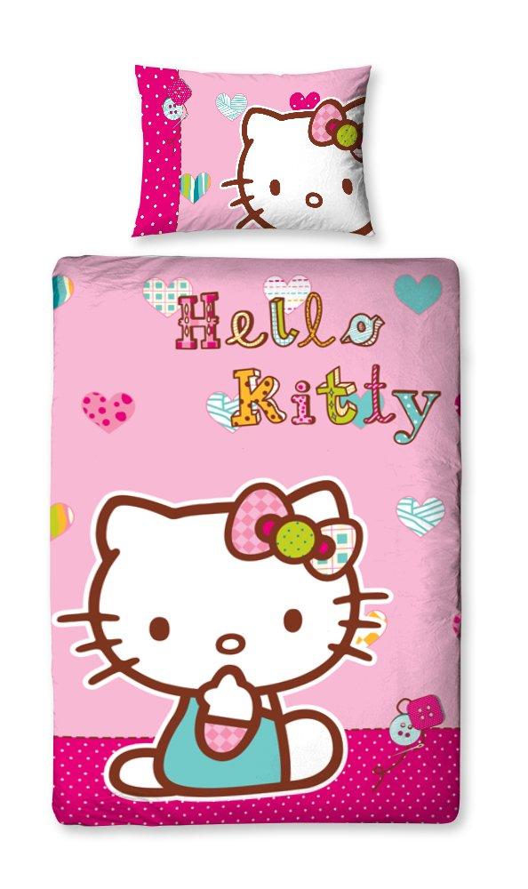 Character World 135 x 200 cm Hello Kitty Folk Single Panel Duvet Set, Multi-Color HEL-FOL-DS1-MSCx-06SP