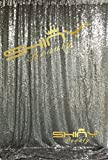 ShinyBeauty-Sequin Backdrop-10FTX10FT-Gunmetal, Sequin fabric Photo Background Glitz Backdrop Photography for Event/Porm/Party