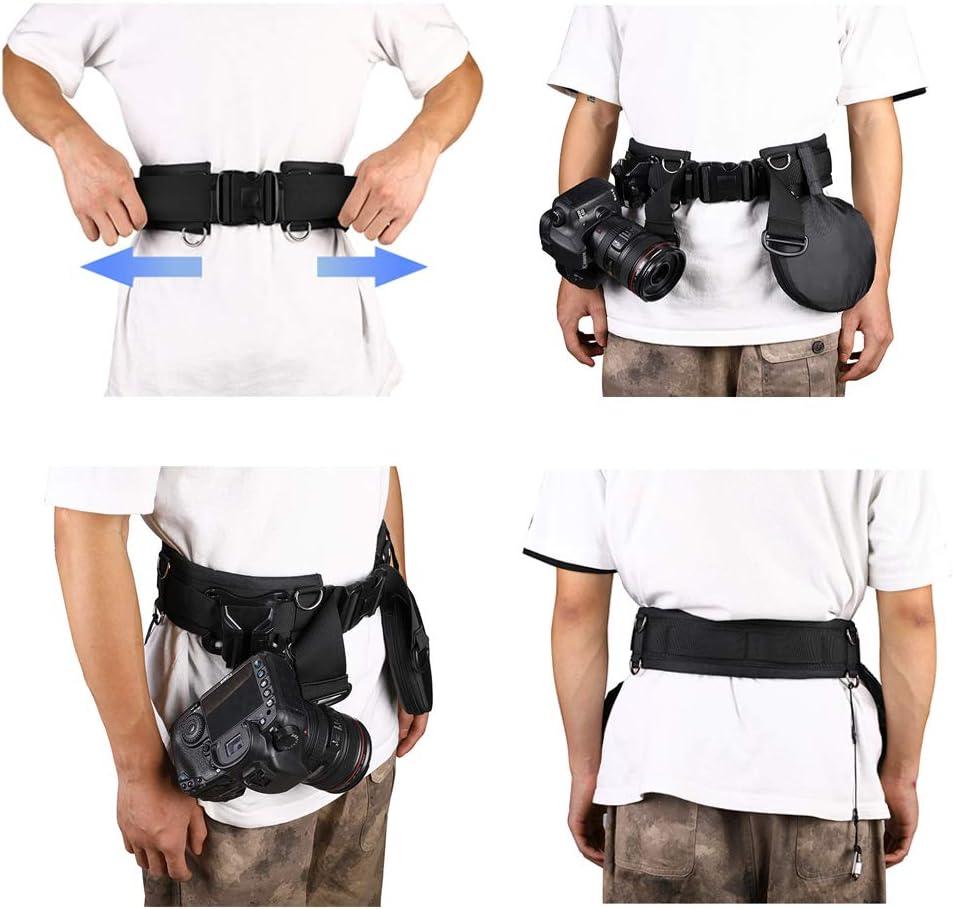 Cámara SLR DSLR Correa para el hombro correa de la cintura cinturón acolchado bolsa de Lente de Cámara N