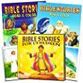 Bible Story Book Super Set for Kids Toddlers -- Deluxe Illustrated First Bible, Bible Coloring Book and Stickers (Christian Gifts for Kids) from PI Kids