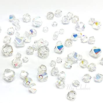 9d37034c2e33 72 pcs Swarovski 5328   5301 Mixed Sizes in 3mm 4mm 5mm 6mm Xilion Bicone  Beads