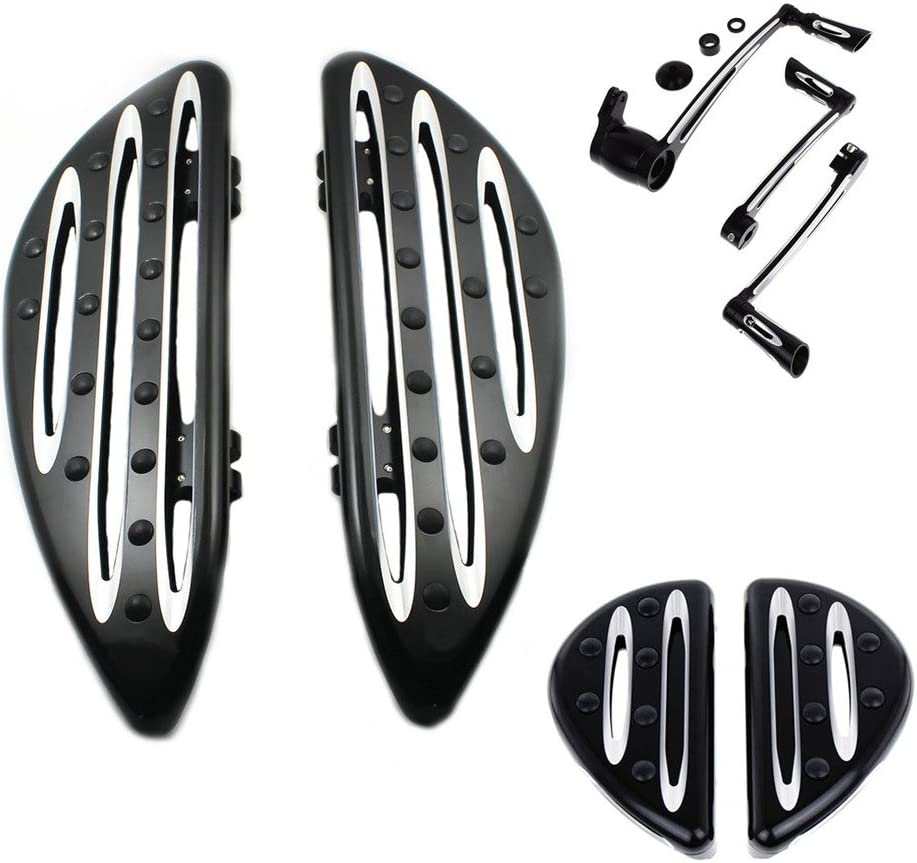 Rebacker Front /& Rear Floorboard Foot peg Brake Arm Kit Shift Peg Fits For Harley Touring FLT FLH 2008-2013