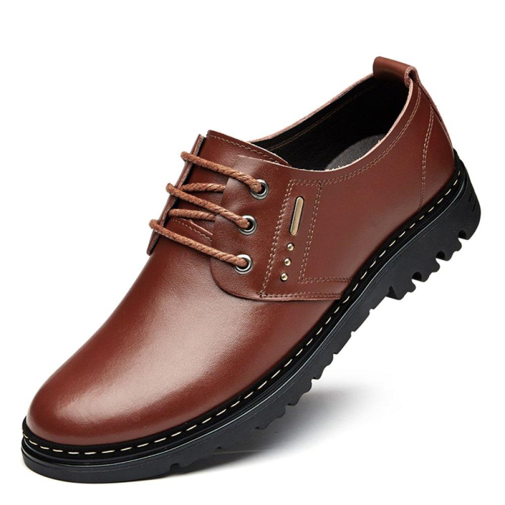 YXLONG Sandalia De Los Hombres De Verano Zapatos Transpirables De Los Hombres De Cuero Nuevos Zapatos Huecos Zapatos De Los Hombres De Los Zapatos De Los Hombres,Fourseasonsbrown-46 46|fourseasonsbrown