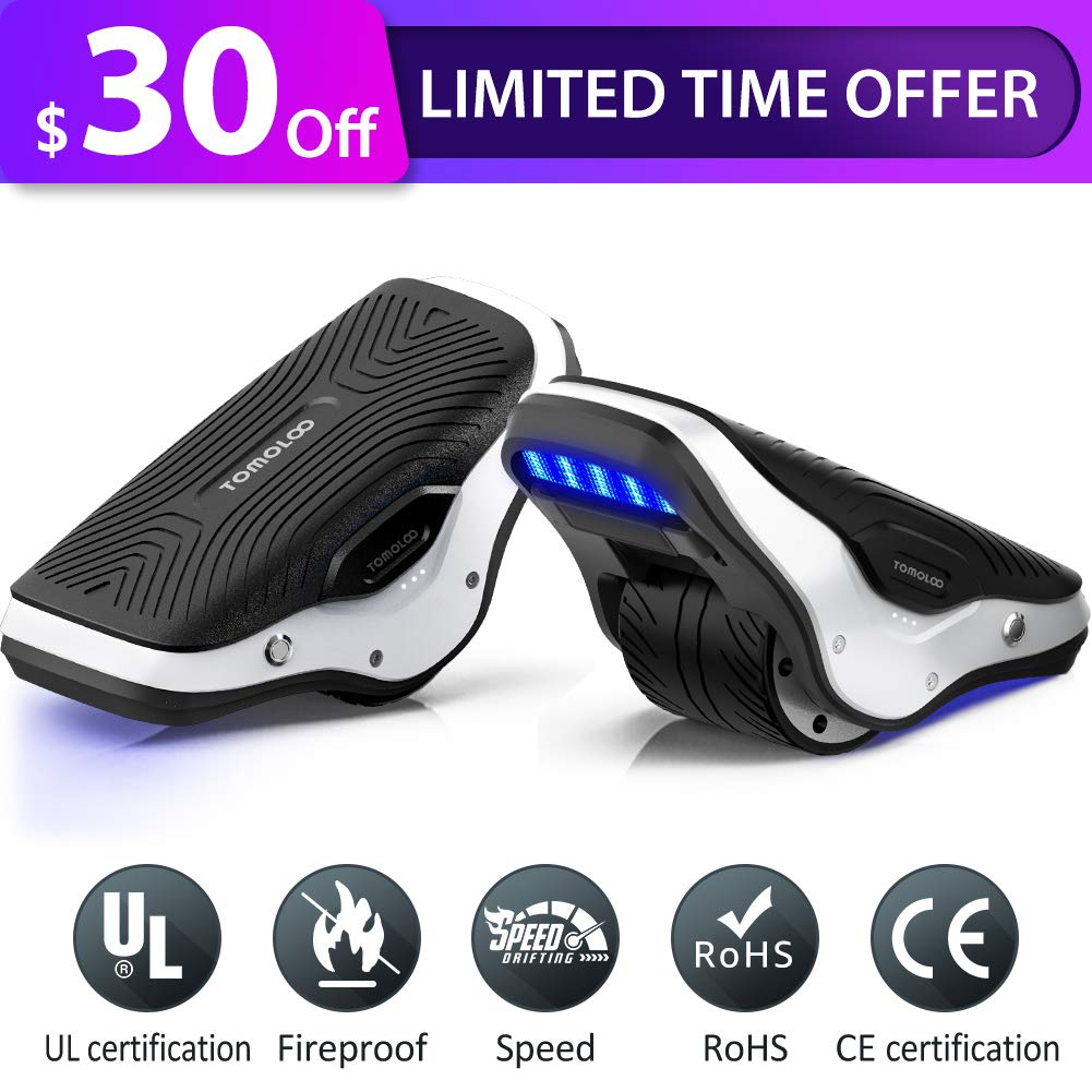 TOMOLOO Spacewalker S1 Electric Roller Skate Hover Board with LED Lights,250W Dual Motor Self Balancing Scooter for Kids and Adults, One Wheel Hovershoes for Outdoor Skating, 12km/h Max Speed by TOMOLOO