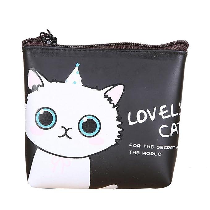 gbsell mujeres Cute Gato Clave Teléfono Cambio Bolsa de embrague pequeña Pur: Amazon.es: Ropa y accesorios